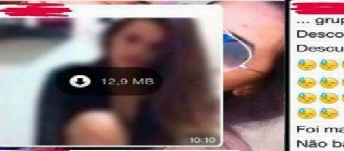 Garota envia mídia intima para grupo familiar por engano .