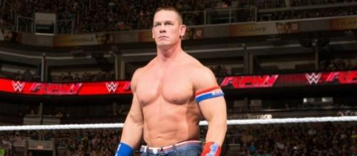 John Cena (pictured in an earlier RAW) returned to WWE programming with a bang on Tuesday night's SmackDown Live. Photo via..- inquisitr.com.