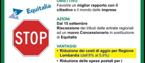 """La Lombardia """"licenzia"""" Equitalia, dal 15 settembre cambia tutto"""