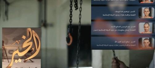 Les victimes ayant été suspendues à des crocs de boucher pour la propagande de Daesh