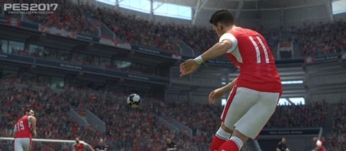 Ozil in azione in PES 2017 (Arsenal)