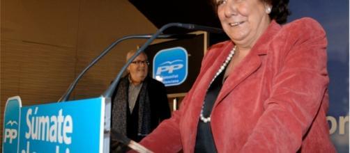 Rita Barbeerá en un acto del Partido Popular