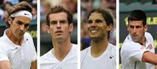 The Big Four in Tennis/ Photo via, tenniswallpaper2013.blogspot.com