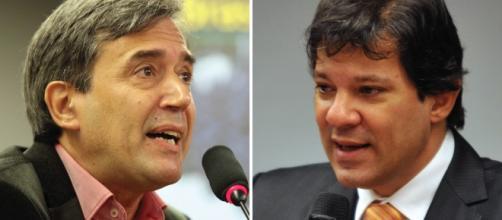 Villa, comentarista político discute com o prefeito Haddad de São paulo