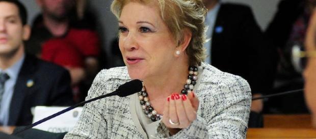 Imagem da candidata peemedebista que concorre para o cargo de prefeita em São Paulo