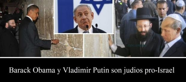 Putin y Obama mostrando su servidumbre incondicional.