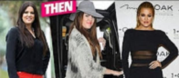 """YouTube still from """"khloe kardashian then and now - before and after changing looks"""" user mix l"""