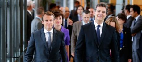 Arnaud Montebourd et Emmanuel Macron