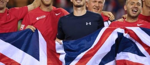 Andy Murray con la Gran Bretagna