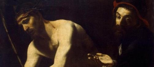 """""""Cristo e Caifa"""", Battistello, 1615 ca."""