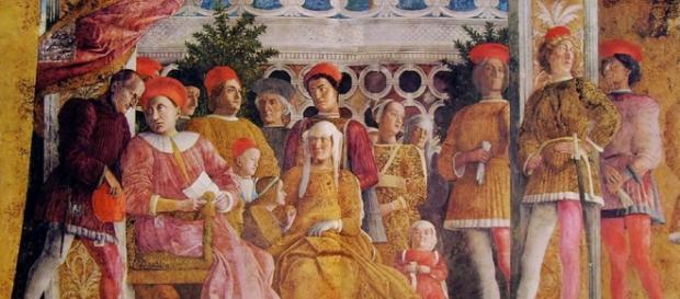 La corte ducale nella Camera degli sposi di Andrea Mantegna.