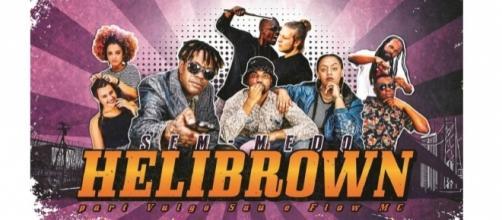 """Com colaborações de Vulgo Sau e Flow MC, Helibrown ironiza o """"racismo reverso""""."""