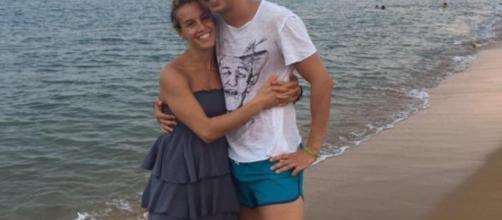 Tania Cagnotto con il suo futuro sposo Stefano Parolin