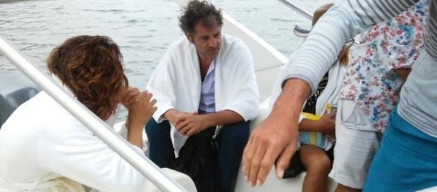 Camila e Domingos no intervalo das gravações de 'Velho Chico' (Foto: Reprodução)