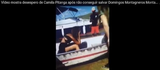 Camila Pitanga chora após afogamento de ator