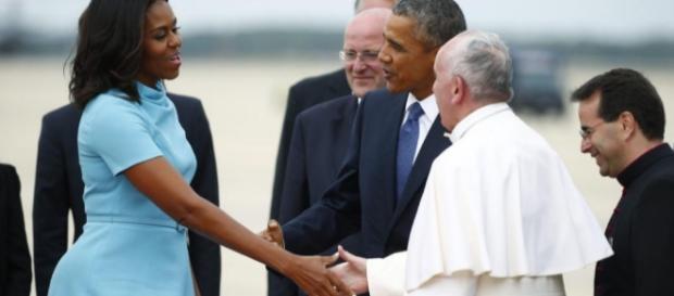 La llegada del Papa a los Estados Unidos