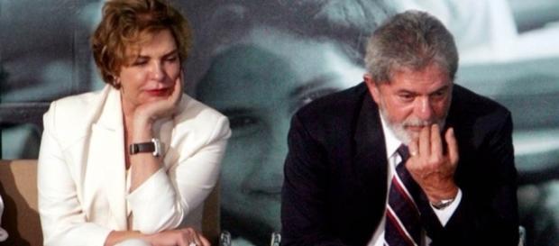 Lula e sua mulher Marisa Letícia