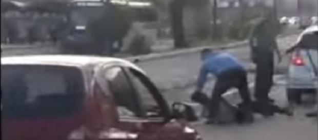 Momento após disparos de tiro em Salvador