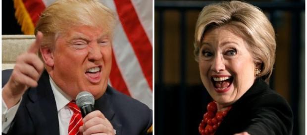 US-Präsidentschaftskandidaten Donald Trump & Hillary Clinton