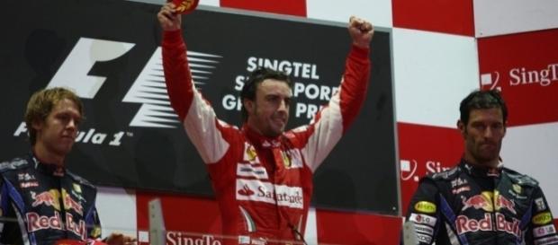 victoria de Fernando Aloso en Singapur-2010.