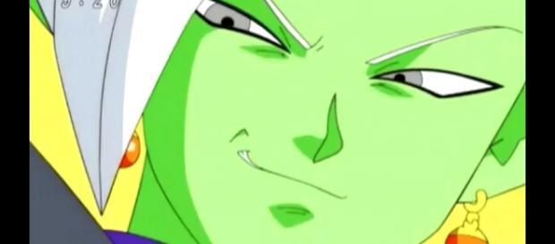 Zamasu a punto de matar a su maestro Gowasu