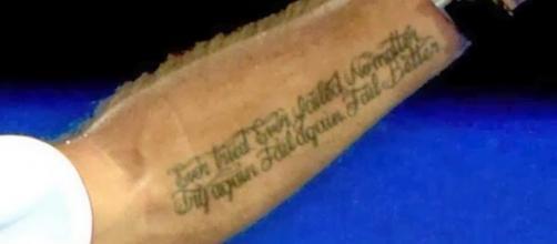 Tatuaje de Stanislas Wawrinka en su brazo izquierdo