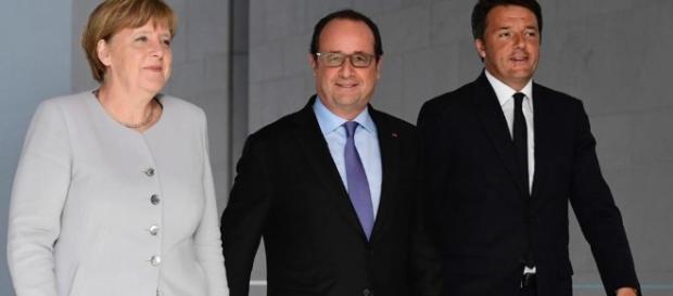 Merkel con Renzi e Hollande dopo il Brexit ... - lastampa.it