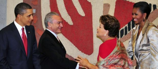 Obama, Temer, Dilma e Michele Obama. Foto:EBC