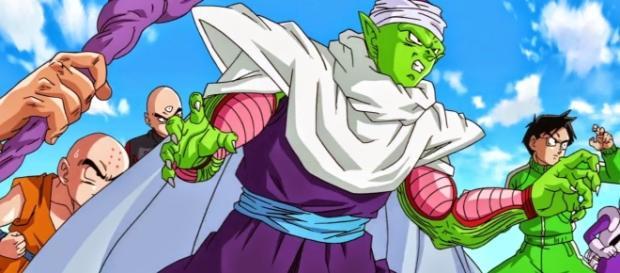 Piccolo en accion por defender a los Saiyajins