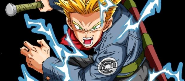 Trunks del futuro en Super Saiyajin 2