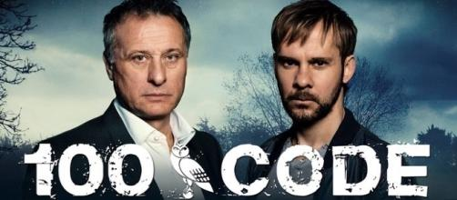 Michael Nyqvist e Dominic Monaghan, la coppia di investigatori della serie svedese '100 Code'.