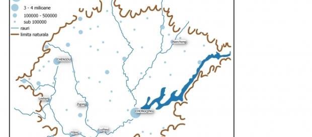 Harta Megalopolisului Chongqing
