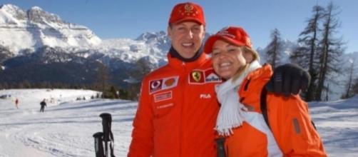 Michael Schumacher sulla pista di sci, il suo sport preferito dopo la Formula uno.