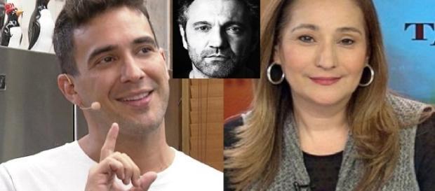 André Marques e Sônia Abrão - Foto/montagem