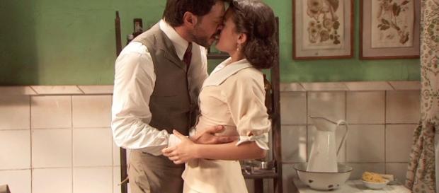 Il Segreto anticipazioni, il primo bacio di Sol e Lucas