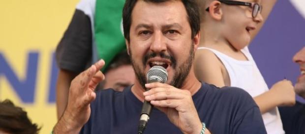 Matteo Salvini, segretario Lega Nord interviene a Pontida