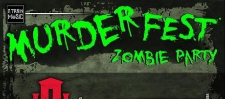 Cartel de la Zombie Party organizada por el Murder Festival de Córdoba