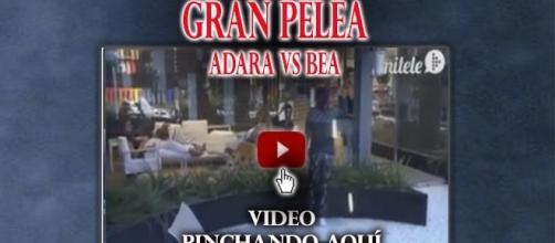 Bea y Adara en una gran pelea.