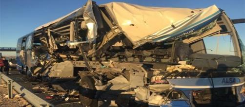 Trágico accidente de autobús en Soria