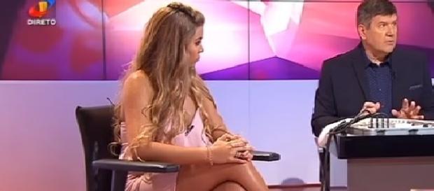 Andreia Silva durante o teste da máquina da verdade