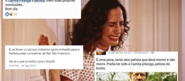 Camila Pitanga é alvo de ataques na web