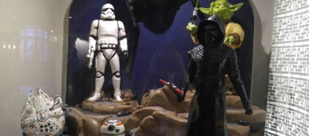 Star Wars is one of the scenes created in chocolate at Epcot. (Photo by Barb Nefer)