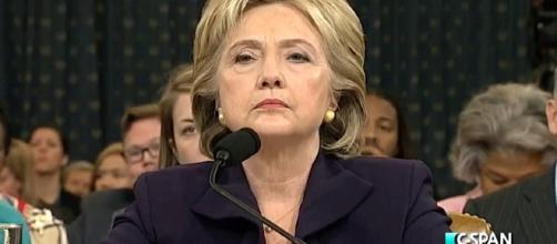Clinton testifying before the House Select Committee on Benghazi. C-SPAN, Wikimedia Commons
