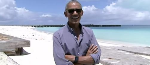 Obama visits Midway Atoll, brings fresh attention to climate change. YouTube - AP (Screencap)