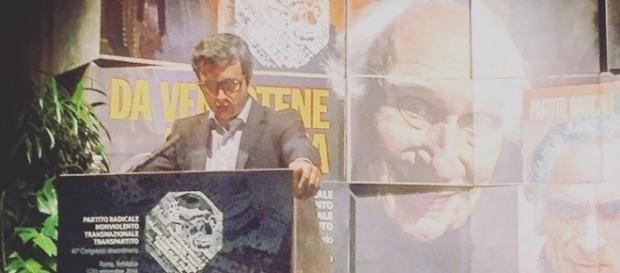 Amnistia e indulto, il ministro Orlando al congresso dei radicali, foto dalla sua pagina Facebook