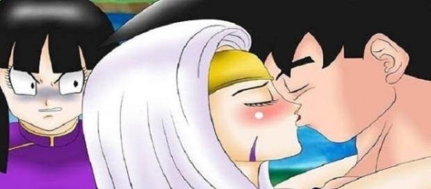 Goku y Nean en el universo 12 ki