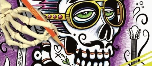 Sugar Skulls are becoming increasingly popular subjects. / Photo via Erika Merklinger, Crayola. Used with permission.