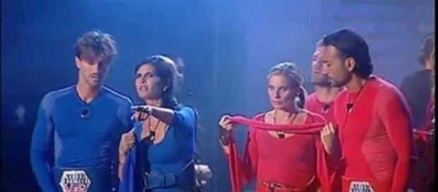 Da sinistra Andrea Damante, Pamela Prati, Laura Freddi e Costantino