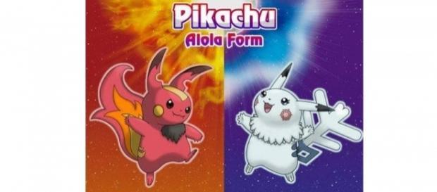 Estos son los Picachu Alola, hielo y fuego