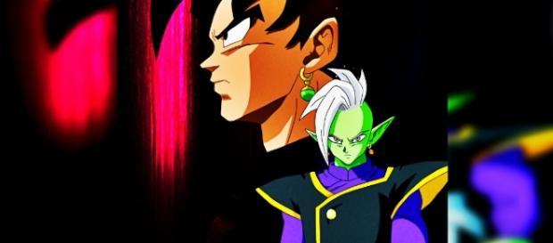 """""""Fan Art"""" de Goku Black y Zamasu realizado por el artista """"Salvamakoto""""."""